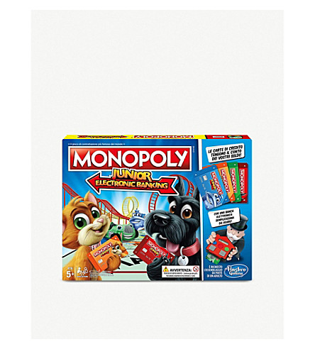 BOARD GAMES Monopoly Junior Electronic Banking
