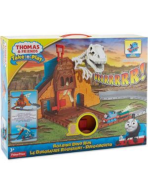 THOMAS THE TANK ENGINE Take-n-Play roaring dino run track playset