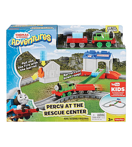 THOMAS THE TANK ENGINE Percy at the Rescue Centre track set