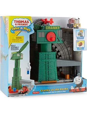 THOMAS THE TANK ENGINE Take-n-Play Cranky at the Docks playset