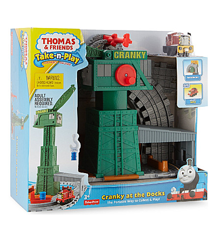 THOMAS THE TANK ENGINE Take-n-Play Cranky at the Docks playset