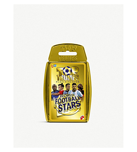 BOARD GAMES Top Trumps world football stars card game