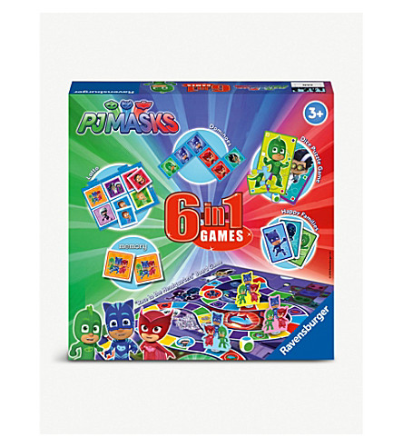 PJ MASKS 6-in-1 games set