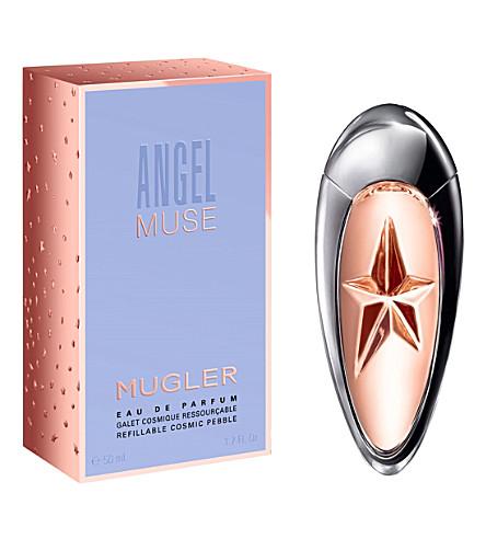 THIERRY MUGLER 天使缪斯可再填充的化妆品鹅卵石香水