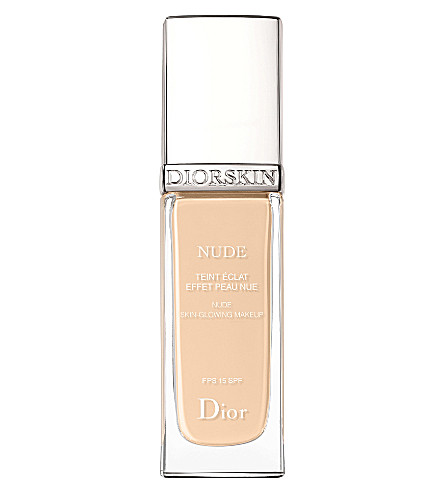 DIOR DiorSkin Nude Natural Glow radiant fluid foundation SPF 15 (Ivory