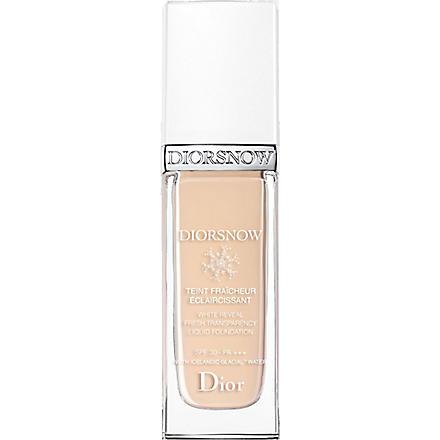DIOR Diorsnow White Reveal Fresh Transparency Liquid Foundation SPF 30 PA+++ (010