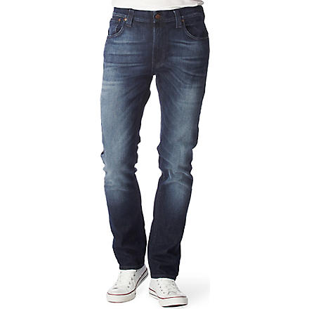 NUDIE JEANS Thin Finn jeans (Org. worn dark navy