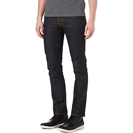NUDIE JEANS Grim Tim slim-fit straight jeans (Indigo
