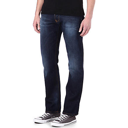 NUDIE JEANS Average Joe regular-fit straight jeans (Org. contrast indigo