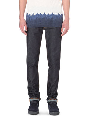 NUDIE JEANS Tape Ted slim-fit tapered jeans