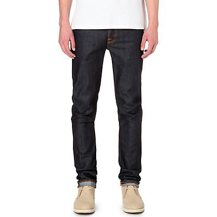 NUDIE JEANS Grim Tim slim-fit straight organic jeans (Indigo