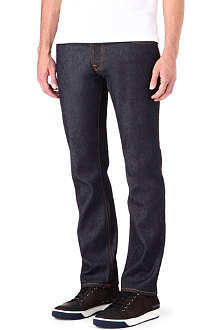 NUDIE JEANS Hank Rey Dry Deep Indigo regular-fit straight jeans