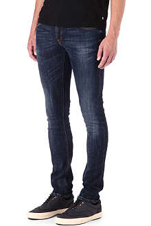 NUDIE JEANS Long john skinny-fit jeans