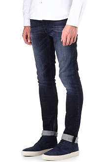 NUDIE JEANS High Kai Used Navy regular-fit skinny jeans