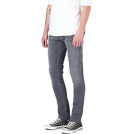 NUDIE JEANS Long John skinny straight jeans (Charcoal