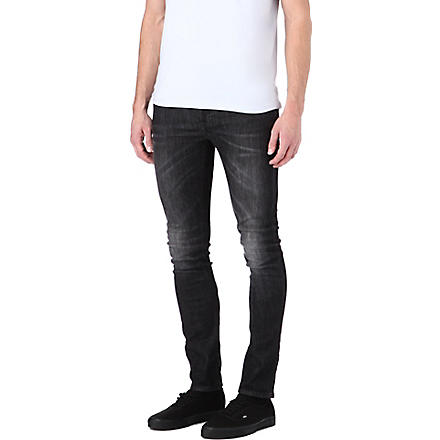 NUDIE JEANS High Kai skinny-fit tapered jeans (Black