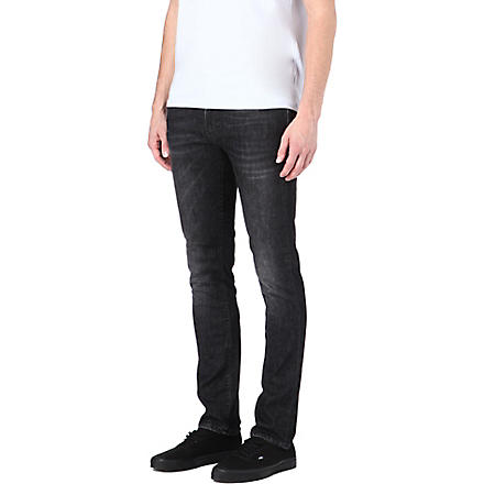 NUDIE JEANS Ted slim-fit straight jeans (Black
