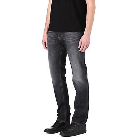 NUDIE JEANS Hank regular-fit straight jeans (Black