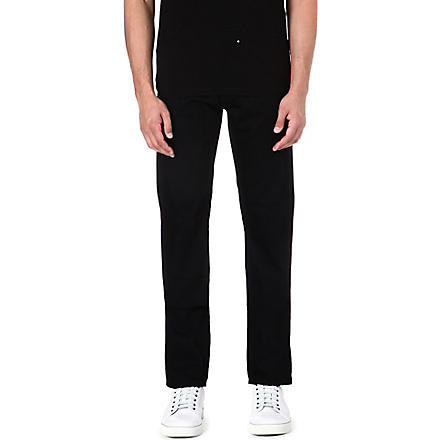 NUDIE JEANS Steady Eddie regular-fit straight jeans (Black