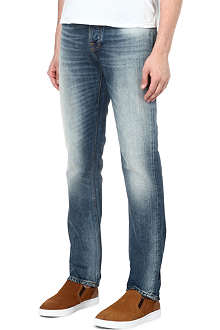 NUDIE JEANS Grim Tim cloudy straight-fit jeans