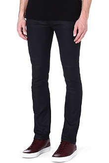 NUDIE JEANS Black coated slim-fit jeans