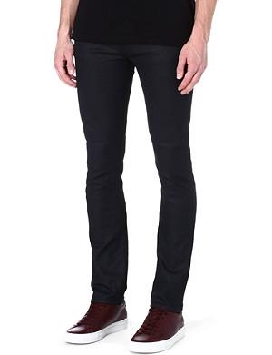 NUDIE JEANS Black coated slim-fit jeans