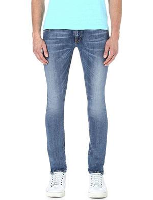NUDIE JEANS Long John slim-fit jeans
