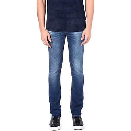 NUDIE JEANS Tape Ted slim-fit tapered jeans (Blue