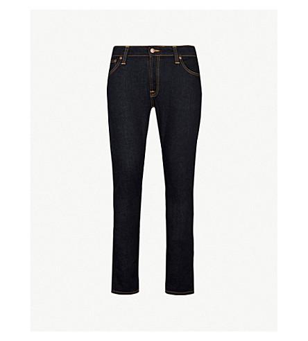NUDIE JEANS Skinny Lin slim-fit skinny jeans (Dry+deep+orange
