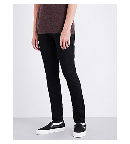 NUDIE JEANS Tight Terry tight-fit skinny jeans (Deep+black