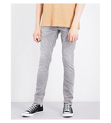 NUDIE JEANS Skinny Lin slim-fit skinny jeans (Grey+beam
