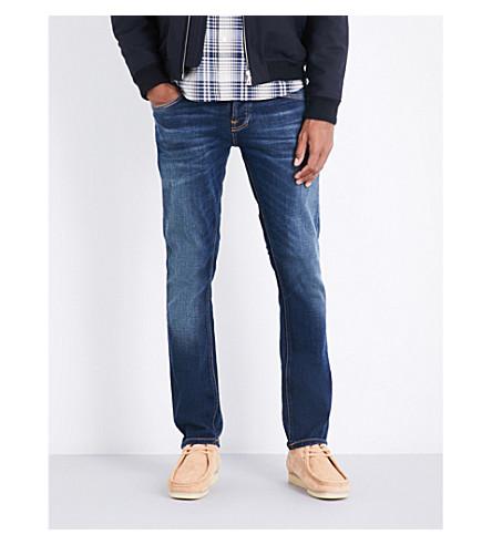 NUDIE JEANS Grim Tim slim-fit skinny jeans (Revelation+blue