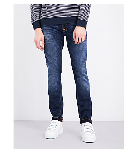 NUDIE JEANS Lean Dean slim-fit skinny jeans (Ink+navy