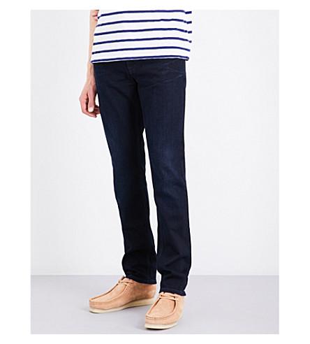 NUDIE JEANS Grim Tim slim-fit skinny jeans (Dark+shield