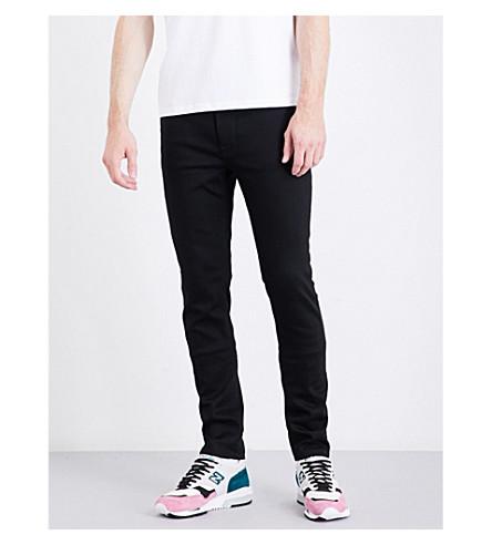 NUDIE JEANS Lean Dean slim-fit tapered jeans (Ever+black