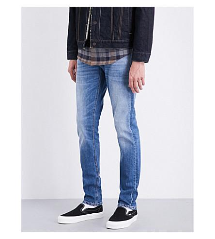 NUDIE JEANS Tilted slim-fit tapered jeans (Crispy+air