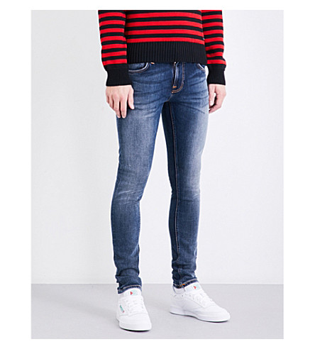 NUDIE JEANS Tight Terry tight-fit skinny jeans (Double+indigo
