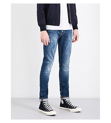 NUDIE JEANS Skinny Lin slim-fit skinny jeans (Ian+replica+selvedge