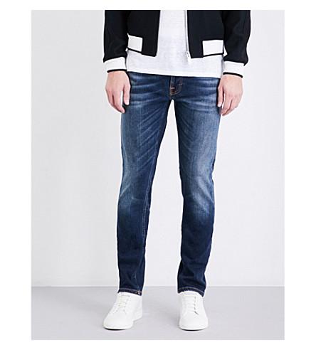 NUDIE JEANS Lean Dean slim-fit tapered jeans (Crispy bora