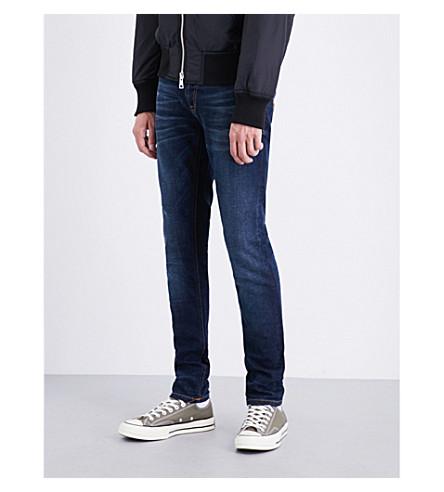 NUDIE JEANS Skinny Lin slim-fit skinny jeans (Dk+blue+authentic