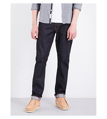 NUDIE JEANS Dude Dan regular-fit straight jeans (Dry+comfort+dark