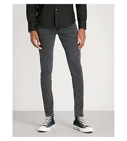 NUDIE JEANS Skinny Lin slim-fit skinny jeans (Black+seas