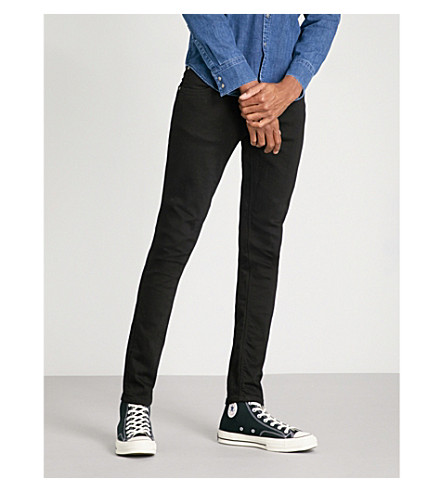 NUDIE JEANS Tight Terry tight-fit skinny jeans (Ever+black