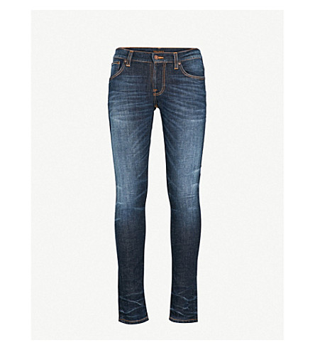 NUDIE JEANS Tight Terry tight-fit skinny jeans (Dark+contrasts