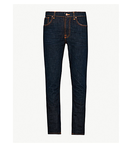 NUDIE JEANS Lean Dean slim-fit tapered jeans (Dark+shadow