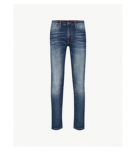 NUDIE JEANS Lean Dean slim-fit tapered jeans (Lost+legend