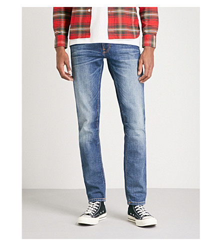 NUDIE JEANS Lean Dean slim-fit tapered jeans (Lost+legend