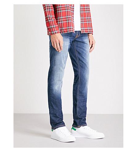 NUDIE JEANS Lean Dean slim-fit tapered jeans (Blue+ridge