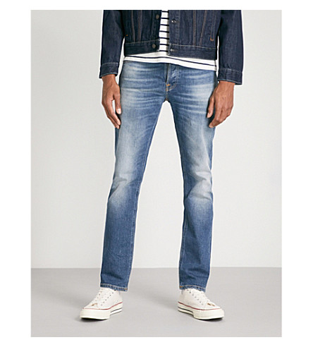 NUDIE JEANS Grim Tim faded straight-leg jeans (Conjunctions