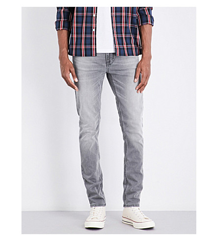 NUDIE JEANS Lean Dean slim-fit skinny jeans (Grey+ace